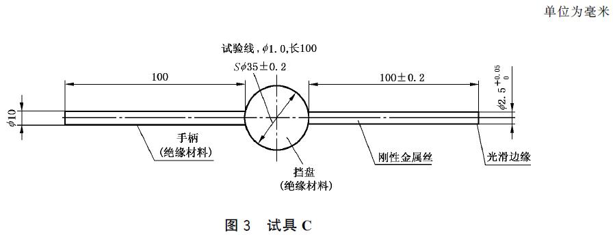 IEC61032 图3试具C(图1)