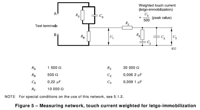 IEC60598-1 接触电流测试网络(附录G、图G.3)AG990F5